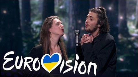Portugal- 'Amar Pelos Dois' - Salvador Sobral - Winners of Eurovision 2017- Grand Final - BBC One