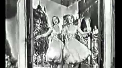 """06) WEST GERMANY """"Heute Abend wollen wir tanzen geh'n"""" Alice & Ellen Kessler"""