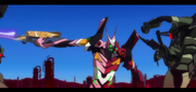 Evangelion 4.0 scene