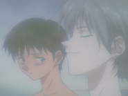 Kaworu and Shinji bathing (NGE)