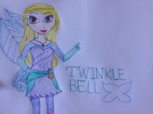 Twinkle Bell Fairy Queen Drawing