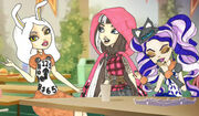 Bunny Cerise and Kitty in the Castleteria