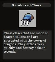 Reinforced claws