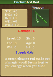 Enchanted rod