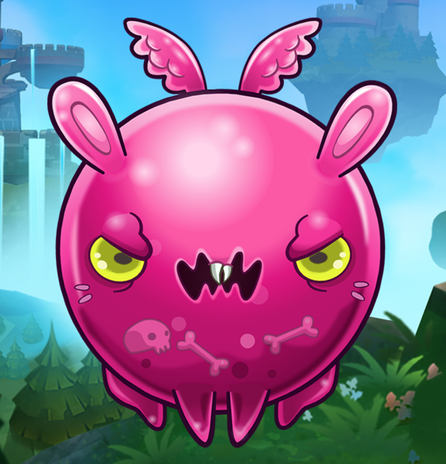 EverWing boule rose fluffy