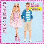 Even Barbie looks more fab with a true friend by her side...luckily, Ken is as dreamy a friend as they come!