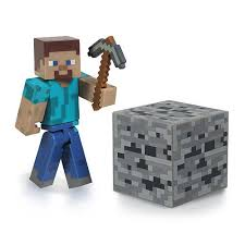 File:Minecraft Steve Action Figure With Stone Pickaxe and Coal Ore.jpg
