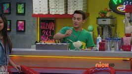 Diego creating ice cream bar
