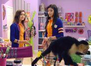 Emma, Andi and Monkey Lily