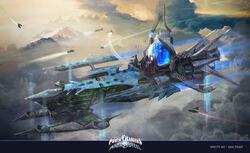 Warrior Dome Ship concept art