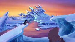 Outside Morgana's Ice Cave
