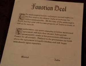 The Faustian Deal