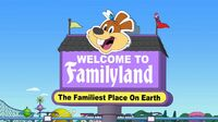 The Familyland Gateway Sign