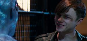 Harry Osborn bargaining with Electro