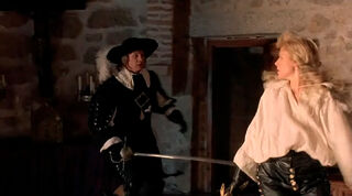 Justine de Winter (played by Kim Cattrall) The Return of the Musketeers 1958
