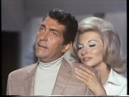 Barbara seducing Matt Helm ( Nancy Kovack with Dean Martin)