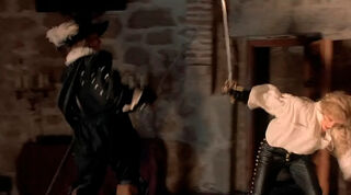 Justine de Winter (played by Kim Cattrall) The Return of the Musketeers 1954