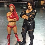 Eva Marie and Nia Jax