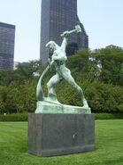 Image-UN Swords into Plowshares Statue