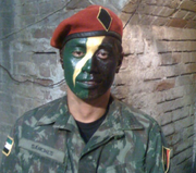 Samuel Le as a Garza soldier