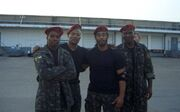 Expendables- Precious Garrett, Mark Hicks, Lateef Crowder & unknown as Palace Guards