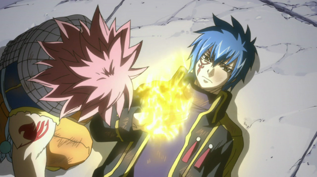File:Jellal gives Natsu the Gold Fire.png