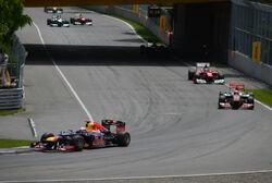 2012 Canada GP lap 1 leaders