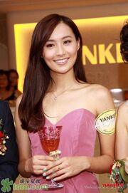 Fala Chen Holding Glass Wine