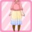 LE Chiffon Maxi Dress Knit Poncho blossom