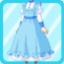 PBK Long Maid Uniform blue