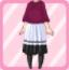 LE Chiffon Maxi Dress Knit Poncho lavender