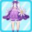 FFG Fluffy Bud Dress purple