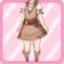 LE Fringe Dress chestnut