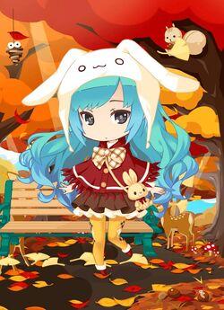 Bunny Bag Girl outfit