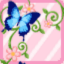FFG Ivy and Butterflies Curtain Frame