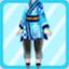 DG Elegant Pharmacist Costume royal blue