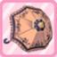 LE Bisque Doll Umbrella laranja