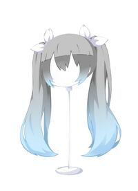 HAIR InnocentTwin-TailsGradientSkyAsh