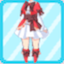 CTSG Magician Frilly Skirt red
