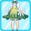 FFG Fluffy Bud Dress green
