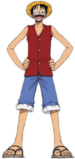 Luffy D. Monkey Anime Pre Timeskip Full Body