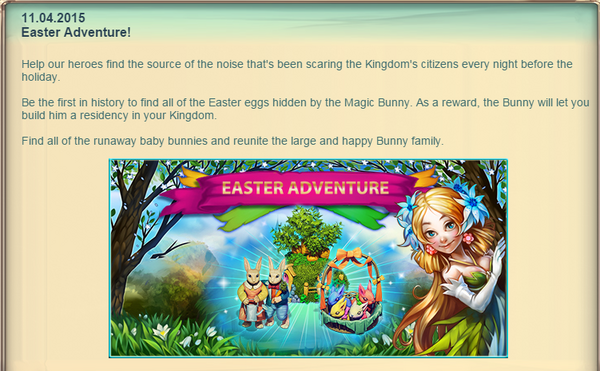 Fairy Kingdom --Easter Celebration Announcement