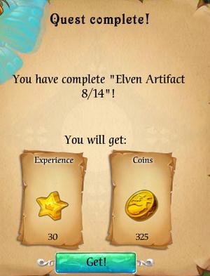 Fairy Kingdom --Elven Magic 8 of 14 task reward