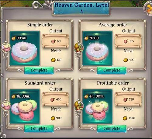 Heaven Garden menu