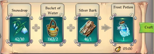 Fairy Kingdom -- Frost Potion recipe