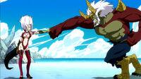 Mira stops Elfman's punch