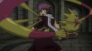 Franmalth attempts to take Natsu's soul