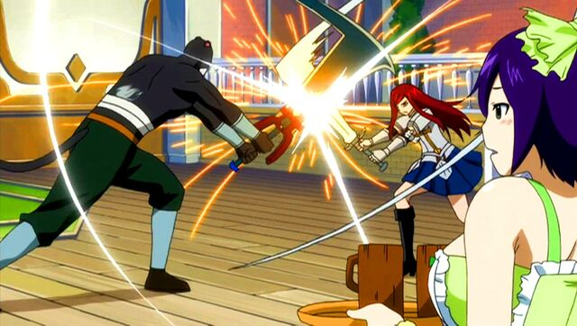 File:Lily practices with Erza.jpg