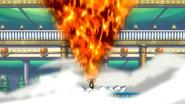 Natsu screams out fire