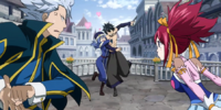 Gray Fullbuster & Juvia Lockser vs. Lyon Vastia & Sherria Blendy